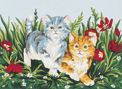 Collection d'Art Printed Needlepoint Tapestry Canvas Needlecraft 30x40cm - Playful Kittens