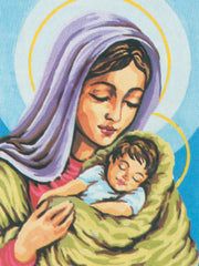 Collection d'Art Printed Needlepoint Tapestry Canvas Needlecraft 30x40cm - Madonna And Child