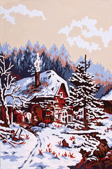 Collection d'Art Printed Needlepoint Tapestry Canvas Needlecraft 30x40cm - Snow Scene