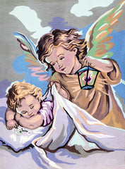 Collection d'Art Printed Needlepoint Tapestry Canvas Needlecraft 30x40cm - Guardian Angel