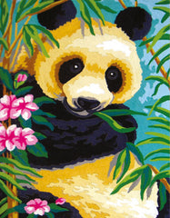 Collection d'Art Printed Needlepoint Tapestry Canvas Kit Needlecraft 30x22cm - Panda