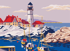Collection d'Art Printed Needlepoint Tapestry Canvas Needlecraft 30x40cm - Lighthouse