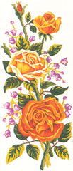 Collection d'Art Printed Needlepoint Tapestry Canvas Needlecraft 60x30cm - Yellow Roses