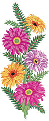 Collection d'Art Printed Needlepoint Tapestry Canvas Needlecraft 60x30cm - Pink And Yellow Daisies