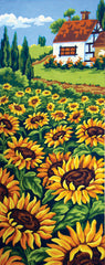 Collection d'Art Printed Needlepoint Tapestry Canvas Needlecraft 60x30cm - Sunflower Field