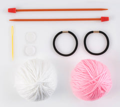 My First Knitting Kit: Clutch Bag & Hairbands - Hobby & Crafts