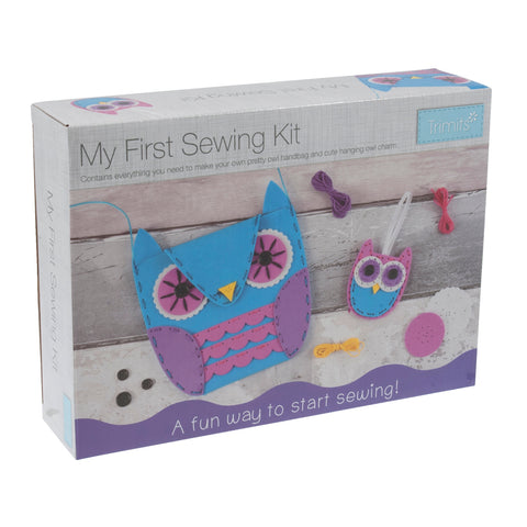 My First Sewing Kit: Owl Handbag & Charm - Hobby & Crafts