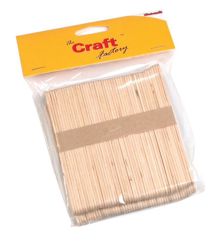100 x Craft Factory Wooden Lollypop Sticks Natural - Hobby & Crafts
