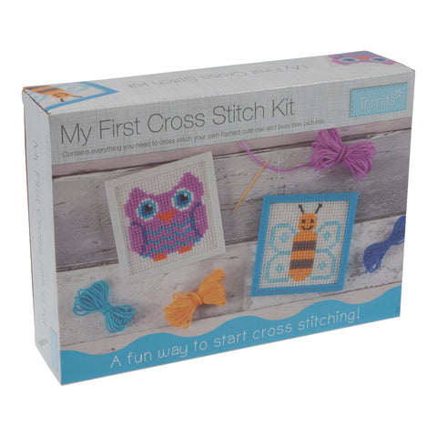 My First Cross Stitch Kit: Owl & Bee Designs Frames - Hobby & Crafts