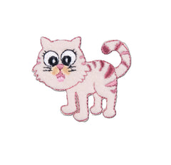 Sew On Motifs Lace Jeans Dresses Garments Appliques Patches 4.2 cm -Pink Cat - Hobby & Crafts