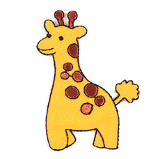 Sew On Motifs Lace Jeans Dresses Garments Appliques Patches Crafts 7 cm -Giraffe - Hobby & Crafts