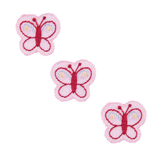 Sew On Motifs Lace Jeans Dresses Appliques Patches 2.3cm -Three Pink Butterflies - Hobby & Crafts