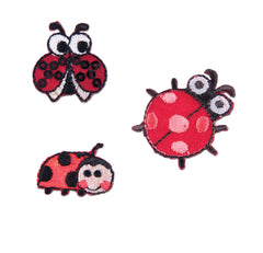 Sew On Motifs Lace Jeans Dresses Garment Applique Patches 3.1cm -Three Ladybirds - Hobby & Crafts