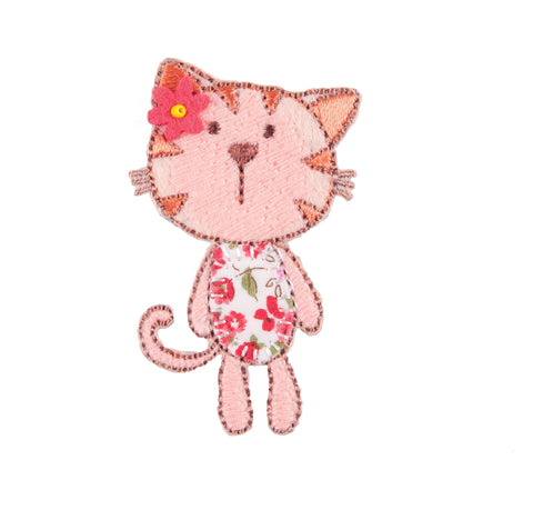 Sew On Motifs Lace Jeans Dresses Garments Appliques Patches 6 cm -Floral Kitty - Hobby & Crafts
