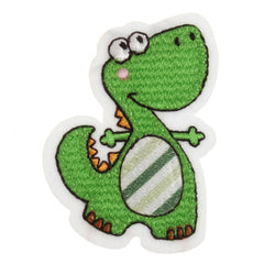 Sew On Motifs Lace Jeans Dresses Garments Appliques Patches Craft 6 cm -Dinosaur - Hobby & Crafts