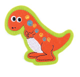 Sew On Motifs Lace Jeans Dresses Appliques Patches Craft 7 cm -Friendly Dinosaur - Hobby & Crafts