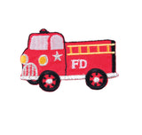 Sew On Motifs Lace Jeans Dresses Garments Appliques Patches 3.2 cm -Fire Truck - Hobby & Crafts