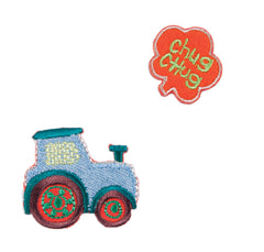 Sew On Motifs Lace Jeans Dresses Garments Appliques Patches -Chug Chug Tractor - Hobby & Crafts