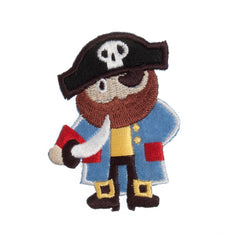 Sew On Motifs Lace Jeans Dresses Garments Applique Patches Crafts 5 cm -Pirate - Hobby & Crafts