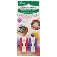 Clover Set of 2 Extra Small Size Pom Pom Maker Crocheting Knitting Craft Tools - Hobby & Crafts