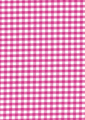 "Cerise Pink Gingham Polycotton 1/4"" Checked Fabric Select Size 112cm Wide"