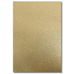 A4 Dovecraft Glitter Card Sheet Card Making 220gsm - Gold - Hobby & Crafts