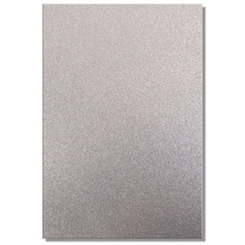 A4 Dovecraft Glitter Card Sheet Card Making 220gsm - Silver