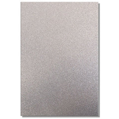 A4 Dovecraft Glitter Card Sheet Card Making 220gsm - Silver - Hobby & Crafts