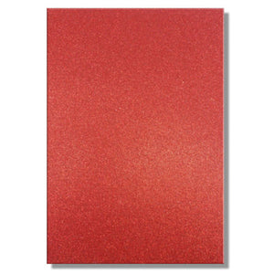 A4 Dovecraft Glitter Card Sheet Card Making 220gsm - Red