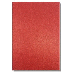A4 Dovecraft Glitter Card Sheet Card Making 220gsm - Red - Hobby & Crafts
