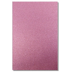 A4 Dovecraft Glitter Card Sheet Card Making 220gsm - Pink - Hobby & Crafts