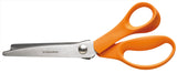 F9445  - Fiskars 9.75 inch Pinking Shears Cuts Denim & Woven Material - Hobby & Crafts