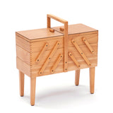 SALE - Traditional 3 Tier Wooden Natural Cantilever With Legs Sewing Storage - Hobby & Crafts