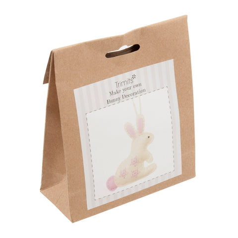 Trimits Bunny Pre Punched Shaped Acrylic Felt Kits For Beginners 25mm x 105mm x 115mm
