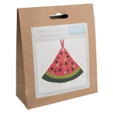 Trimits Watermelon Pre Punched Shaped Acrylic Felt Kit For Beginners 9cm x 11cm