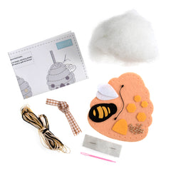 Trimits Bee Hive Pre-Punched Shaped Acrylic Felt Kit For Beginners 10cm x 10cm