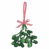 Trimits Pre-Punched Shaped Acrylic Felt Kit For Beginners 11 x 11cm - Christmas: Mistletoe