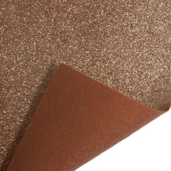 Glitter Acrylic Felt Roll Fabric Crafts Width 45 cm x 1 Meter - Rose Gold