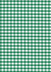 "Green Gingham Polycotton 1/4"" Checked Fabric Select Size 112cm Wide"