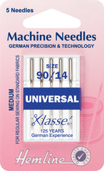 Hemline Universal Machine Needles Medium/ Heavy Size 90 / 14 - Hobby & Crafts