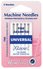 Hemline Universal Machine Needles Mixed Fine Sizes - Hobby & Crafts