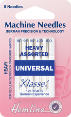 Hemline Universal Machine Needles Mixed Heavy Sizes - Hobby & Crafts