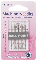 Hemline Ball Point Sewing Machine Needles Heavy - 90 / 14 - Hobby & Crafts