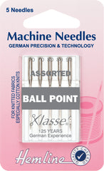 Hemline Ball Point Sewing Machine Needles Mixed - 70, 80, 90 - Hobby & Crafts