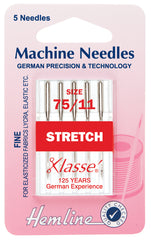 Hemline Sewing Machine Needles Stretch Fine - 75/11 - Hobby & Crafts
