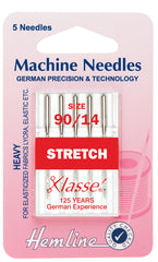 Hemline Sewing Machine Needles Stretch Heavy - 90/14 - Hobby & Crafts