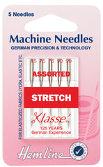 Hemline Sewing Machine Needles Stretch Mixed Sizes -75/11 & 90/14 - Hobby & Crafts