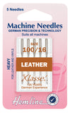Hemline Sewing Machine Needles Leather Heavy - 100/16 - Hobby & Crafts