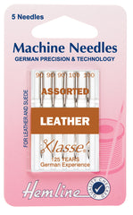 Hemline Sewing Machine Needles Leather Mixed Sizes - Hobby & Crafts