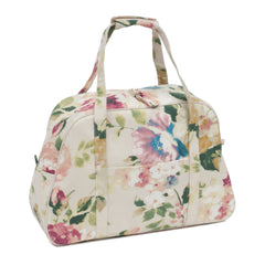 Cream Vintage Floral Sewing Machine Storage Bag With Handles Front Pocket 48cm